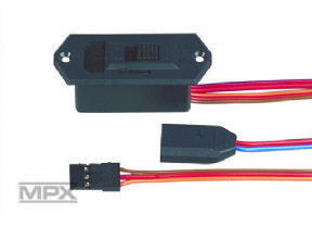 Switch harness black/w. charge MPX battery (UNI)